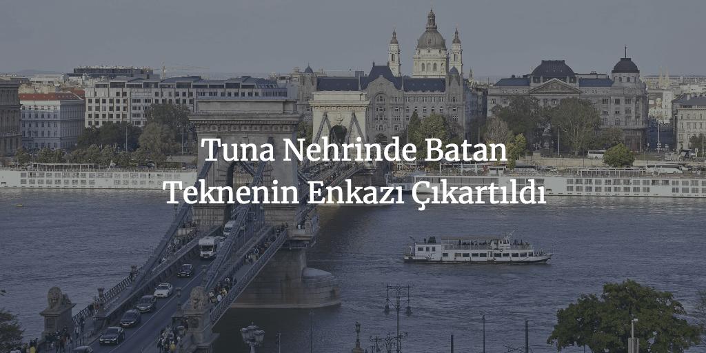 Tuna Nehrinde Batan Teknenin Enkazı Çıkartıldı