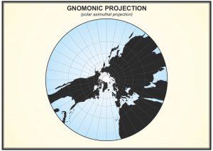 Gnomonic Projection Harita Projeksiyon Sistemleri