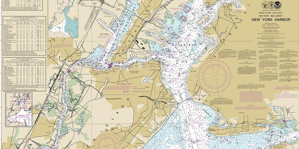 Harita Projeksiyon Sistemleri new york harbor