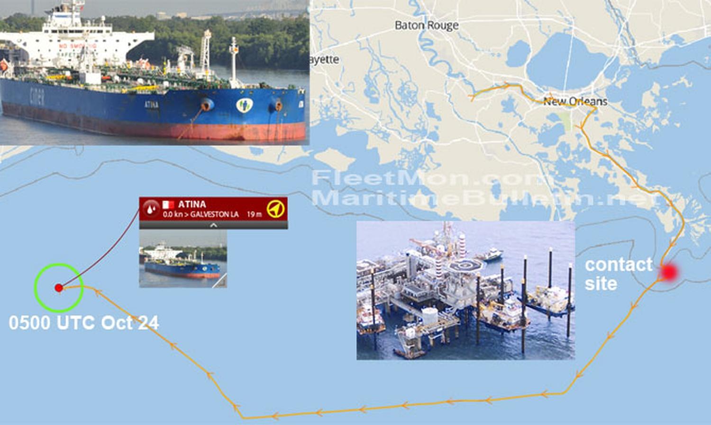 Platforma Temas Eden Suezmax Tanker Alıkonuldu MT ATINA
